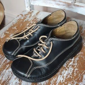 BIRKENSTOCK FOOTPRINTS leather black lace up 6